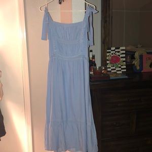 blue baby doll dress